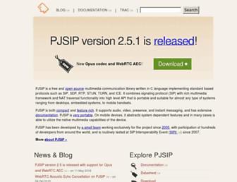 Thumbshot of Pjsip.org
