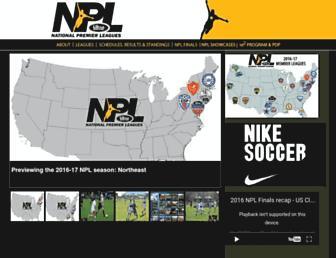nationalpremierleagues.com screenshot
