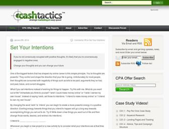 Main page screenshot of cashtactics.net