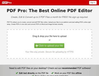 pdfpro.co screenshot