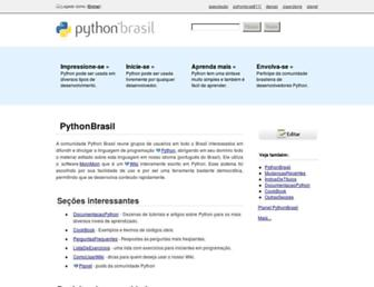 wiki.python.org.br screenshot