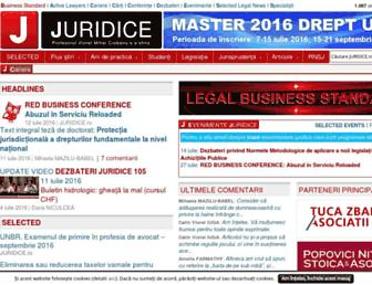 Main page screenshot of juridice.ro