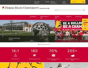 Screenshot for ferris.edu