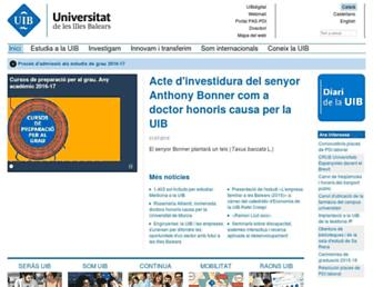 Main page screenshot of uib.es