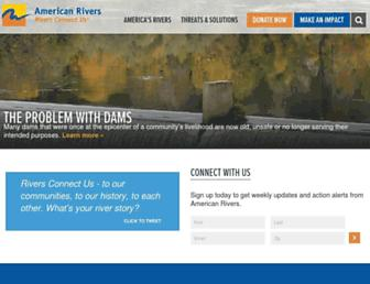 americanrivers.org screenshot