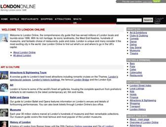 Main page screenshot of londononline.co.uk