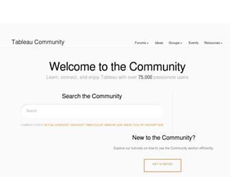 community.tableau.com screenshot