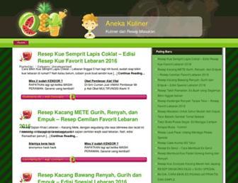 anekakuliner.com screenshot