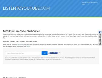 Thumbshot of Listentoyoutube.com
