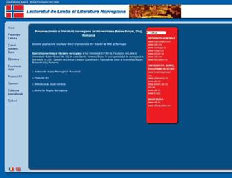 Main page screenshot of norvegiana.lett.ubbcluj.ro