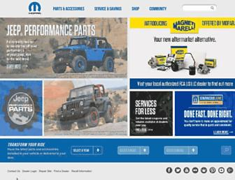 mopar.com screenshot
