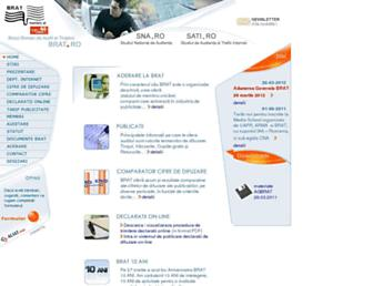 Main page screenshot of brat.ro