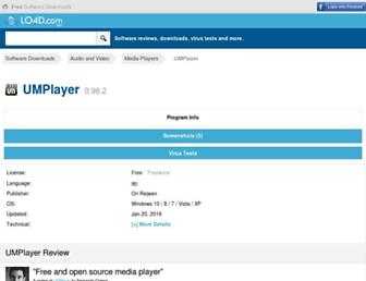 umplayer.en.lo4d.com screenshot