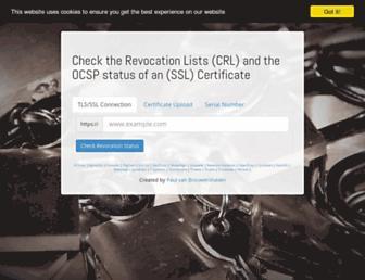 certificate.revocationcheck.com screenshot