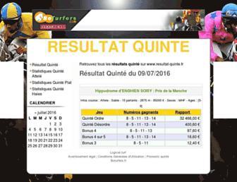 resultat-quinte.fr screenshot