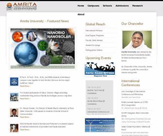 Main page screenshot of amrita.edu