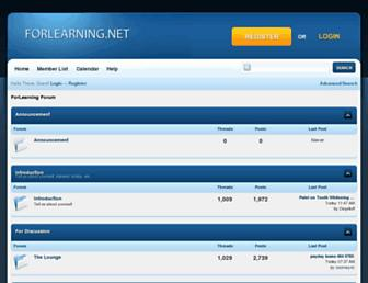 Main page screenshot of forum.forlearning.net