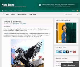 eugene.kaspersky.com screenshot