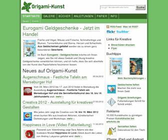 Main page screenshot of origami-kunst.de