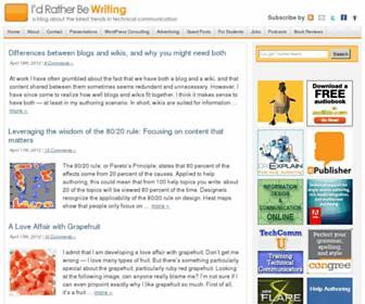 idratherbewriting.com screenshot