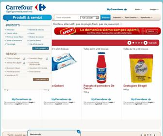 Main page screenshot of carrefour.it