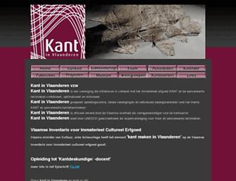 Main page screenshot of kantinvlaanderen.be