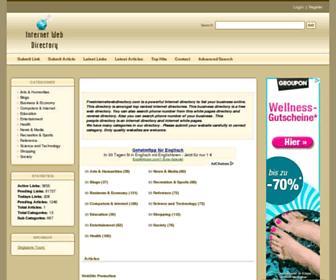 Thumbshot of Freeinternetwebdirectory.com