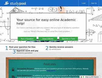 studypool.com screenshot