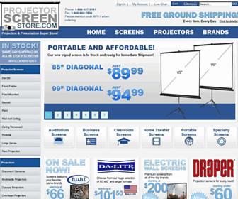 projectorscreenstore.com screenshot