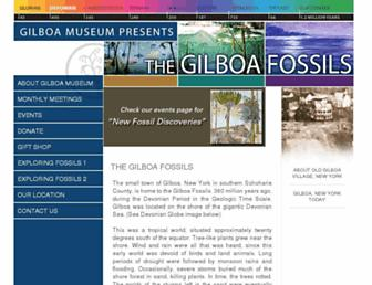 Main page screenshot of gilboafossils.org