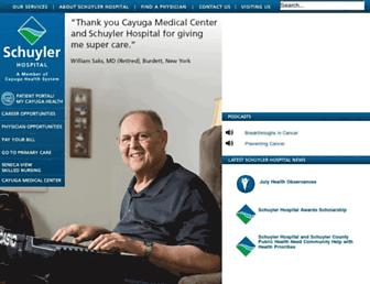 schuylerhospital.org screenshot