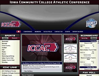 Main page screenshot of iccac.org