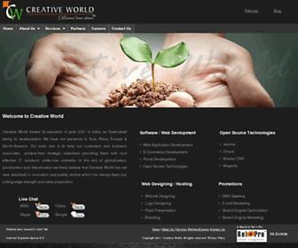 Main page screenshot of creativeworld.in