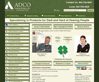 adcohearing.com screenshot