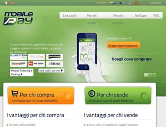 Main page screenshot of mobilepay.it