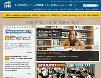 bluegrass.kctcs.edu screenshot