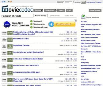 moviecodec.com screenshot