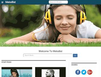 melodlist.com screenshot