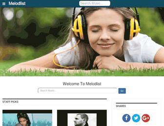 melodlist.com screenshot