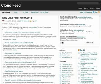 Main page screenshot of cloudfeed.net