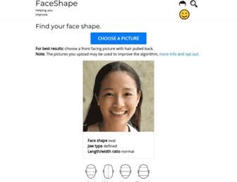 faceshapeapp.com screenshot