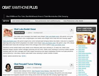 Main page screenshot of obatxamthoneplus.net