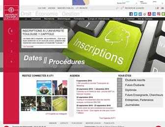 ut-capitole.fr screenshot