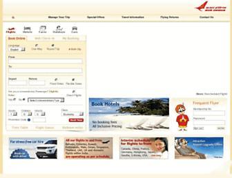 airindia.in screenshot