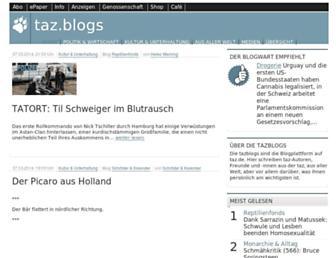 Main page screenshot of blogs.taz.de