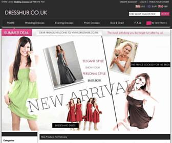 Main page screenshot of dresshub.co.uk