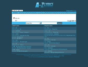 pinyin.azlyricdb.com screenshot