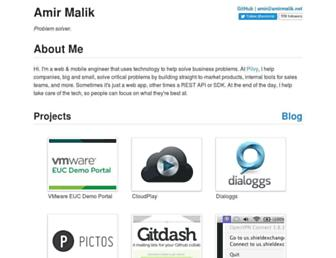 Main page screenshot of amir.unoc.net