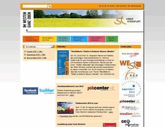 Main page screenshot of kreis-steinfurt.de