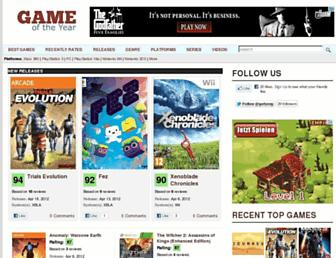 Thumbshot of Gameoftheyear.org
